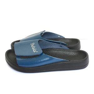 Birkenstock Betula Slides Velcro Sandals Blue